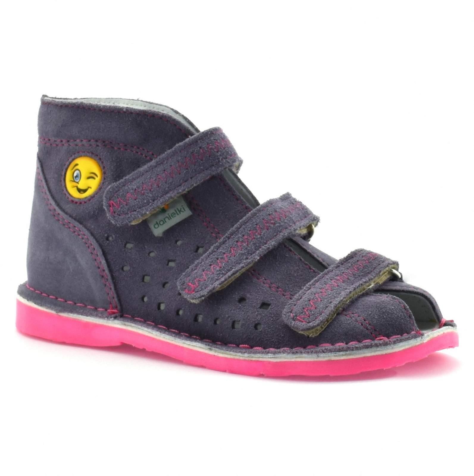 2d57284a Dziecięce buty profilaktyczne Danielki T105E/115E Wrzos Kliknij, aby  powiększyć ...