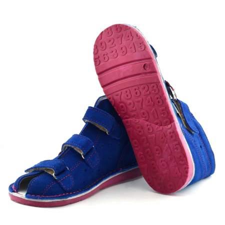 Dziecięce buty profilaktyczne Danielki T125/135 Blue fuksja