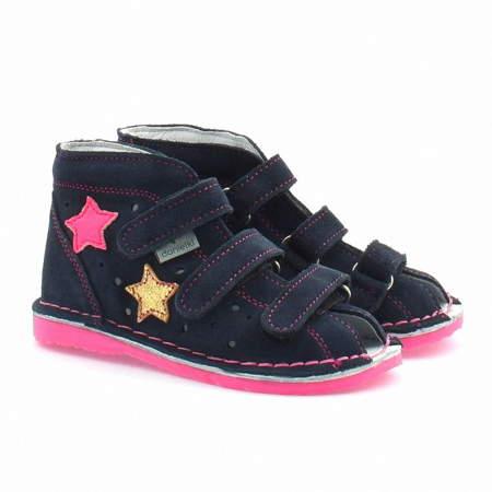 Dziecięce buty profilaktyczne Danielki TA125/135 Granat Fluof