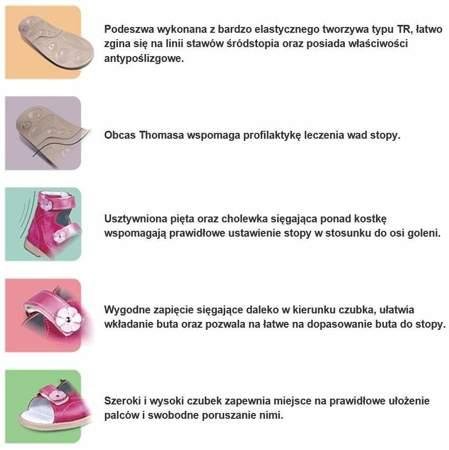 Dziecięce buty profilaktyczne Dawid 1042/163