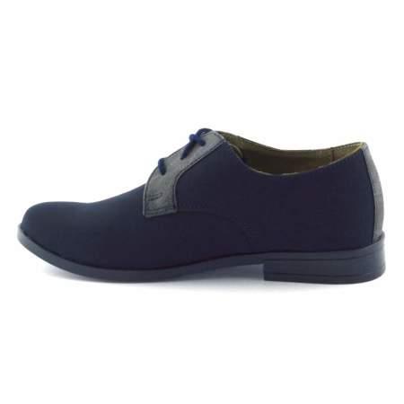 Granatowe buty komunijne dla dzieci Kornecki 06120
