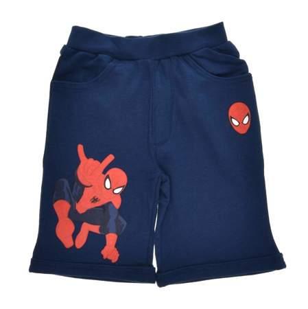 Krótkie spodenki/szorty dziecięce Spiderman Granatowe
