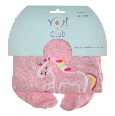 Rajstopy bawełniane dla dziewczynki Scorpio Unicorn