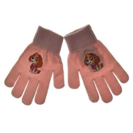 Rękawiczki dla dziewczynki Psi Patrol Pudrowe