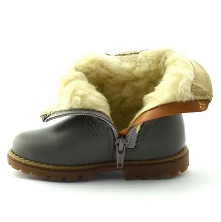 Skórzane buty zimowe dla dzieci Renbut 12-1528