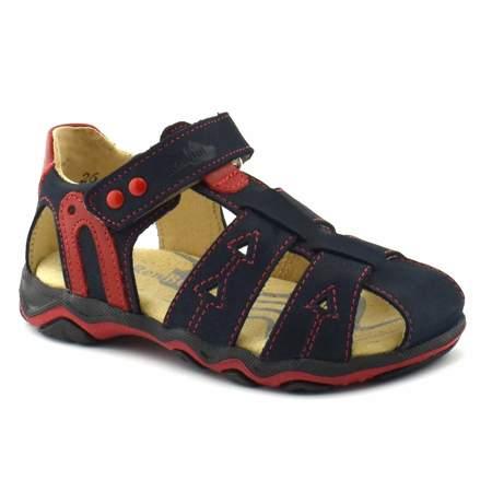 Skórzane sandały dziecięce RenBut 21-3271 Czerwone