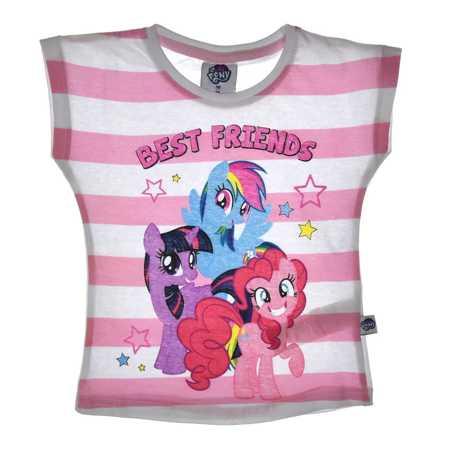 T-shirt dziecięcy My Little Pony różowy w paski
