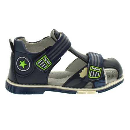 Zabudowane sandały dla dzieci Wojtyłko 40421 Navy